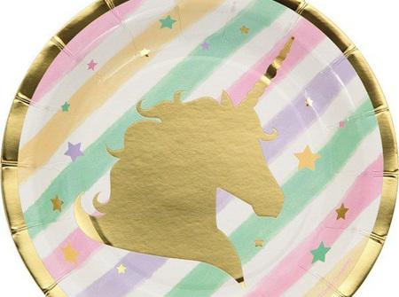 Unicorn sparkle 17.4cm lunch plate