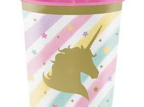 Unicorn Sparkle 473ml plastic favour cup