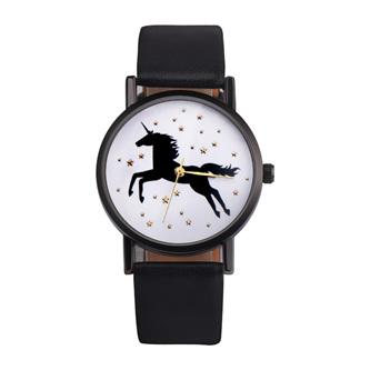 Unicorn & Stars Watch - Black