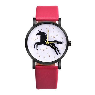 Unicorn & Stars Watch - Hot Pink