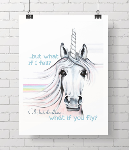 unicorn with quote