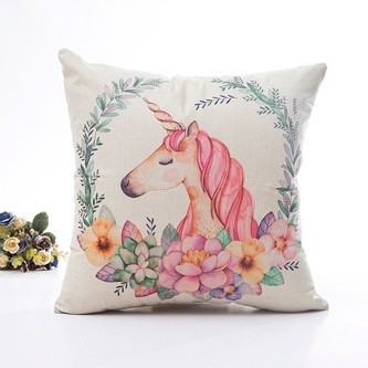 UNICORN & WREATH CUSHION COVER