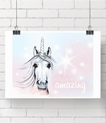 unicorn - you are amazing - on A3