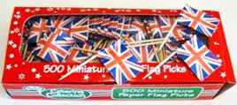 Union Jack Flag Picks x 20