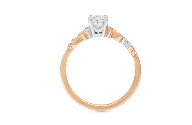 Unique diamond solitaire engagement ring nz inspired celtic maori polynesian