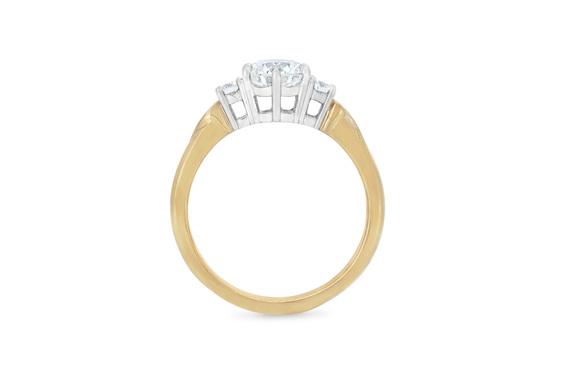 Unique koru detail diamond three stone engagement ring nz maori narrative