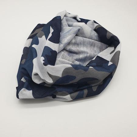 Unisex Half Mask Scarf - Grey Camo