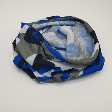 Unisex Half Mask Scarf -Ocean Blue Camo