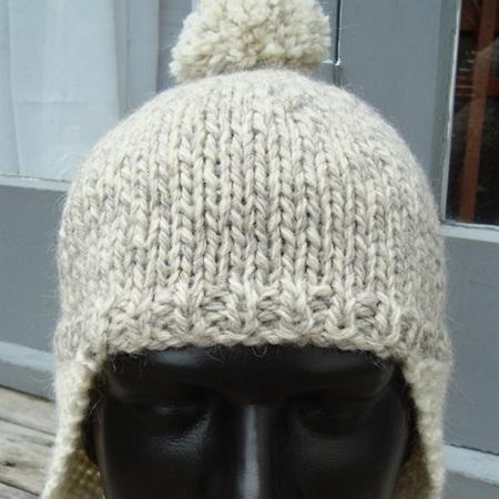 Unisex Knitted Ear Flap Hat