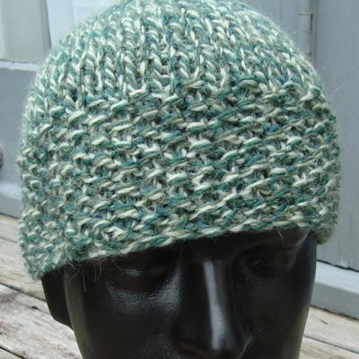 Unisex Knitted Hat - Mottle Green