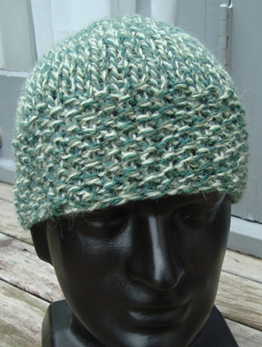 Unisex Knitted Hat - Mottle Green