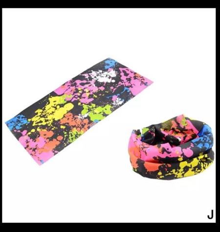 Unisex Paint Splatter Half Mask Scarf