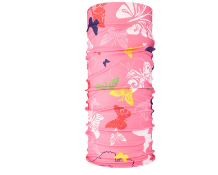 Unisex Pink Butterfly Half Mask Scarf