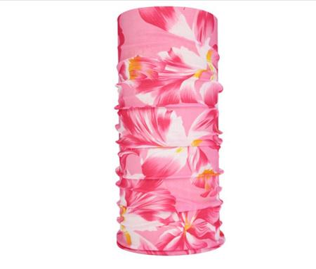 Unisex Pink Floral Half Mask Scarf