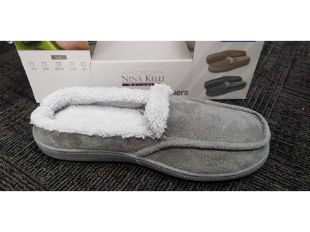 Unisex Slippers Sherpa Grey M