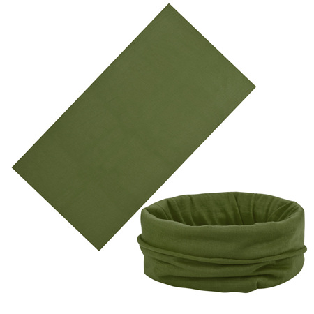 Unisex Solid Colour Half Mask Scarf - ARMY GREEN