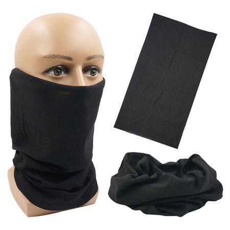 Unisex Solid Colour Half Mask Scarf - BLACK