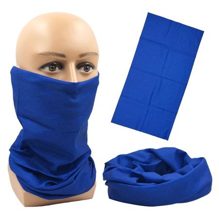 Unisex Solid Colour Half Mask Scarf - BLUE