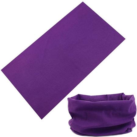 Unisex Solid Colour Half Mask Scarf - PURPLE