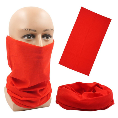 Unisex Solid Colour Half Mask Scarf - RED