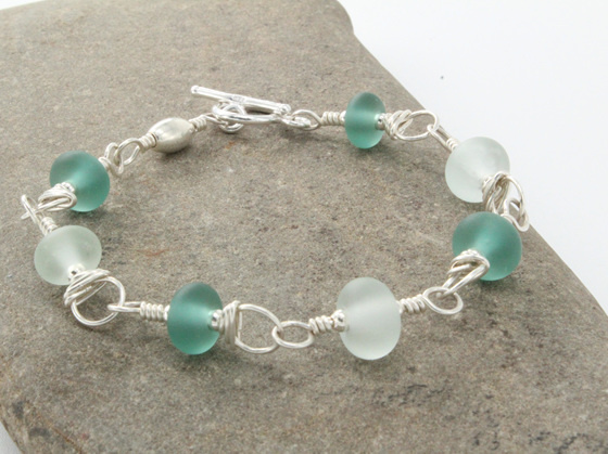 Upcycled Antique Bottle Glass Jewellery