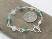 Upcycled  bracelet - Teal/clear