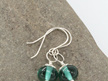 Upcycled earrings - Teal