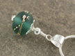 Upcycled pendant - silver trailed - teal