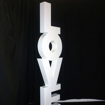 Upright LOVE Prop