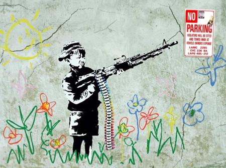 Urban Art Banksy Carayola Shooter - 1000 Piece Jigsaw Puzzle