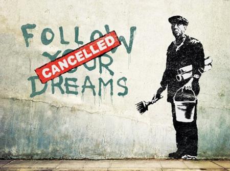 Urban Art Banksy  Follow Your Dreams - 1000 Piece Jigsaw Puzzle