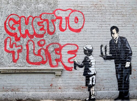 Urban Art Banksy Ghetto 4 Life - 1000 Piece Jigsaw Puzzle