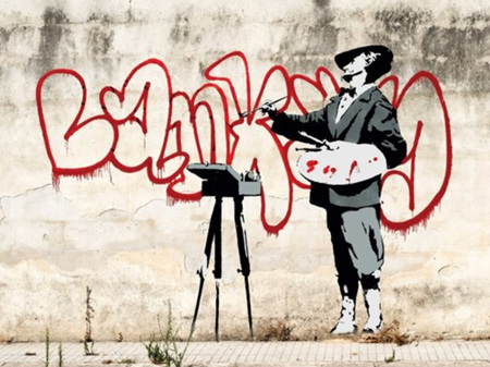 Urban Art Banksy Grafitti Painter / Velasquez - 1000 Piece Jigsaw Puzzle