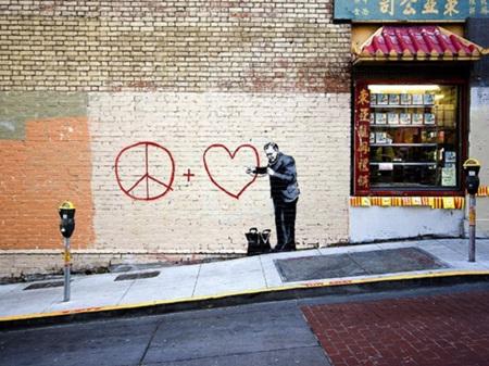 Urban Art Banksy Peaceful Hearts Doctor - 1000 Piece Jigsaw Puzzle