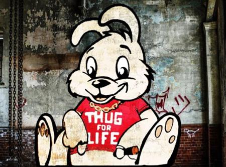 Urban Art Banksy Thug For Life Bunny - 1000 Piece Jigsaw Puzzle