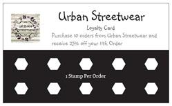 Urban Streetwear Loyalty Card