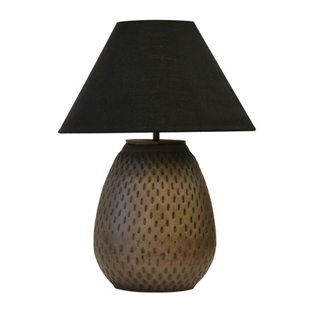 Urn lamp in dark brass antique finish