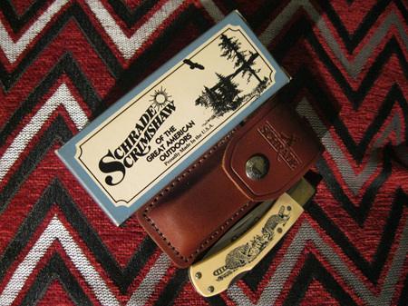 USA made Schrade Scrimshaw 515SC Lockblade (NG401)