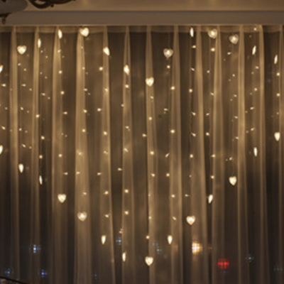 USB LED Heart Shaped Fairy Lights with Remote Control - Warm White