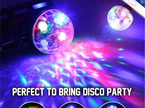 USB Mini Music Activated Disco Light