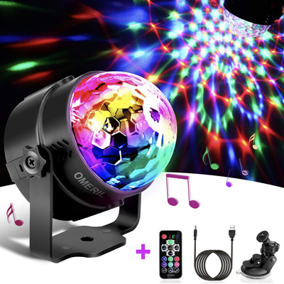 USB Sound Activated Disco Ball DJ Party Light Effect with Remote Control