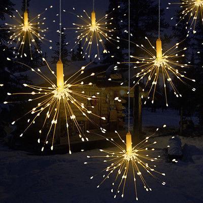 USB Starburst Firework 180LEDs Silver Wire Fairy Lights - Warm White