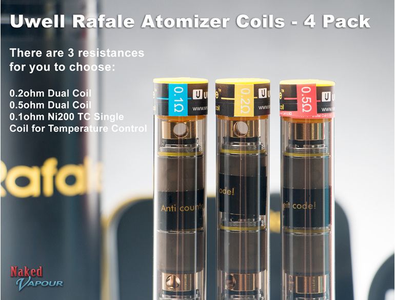 Uwell Rafale Atomizer Coils - 4 Pack