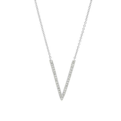 V-shaped Diamond Pendant