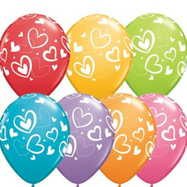 Valentine Mix and Match balloons 7 colours to choose from