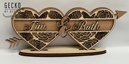 Valentine's Split Names Heart