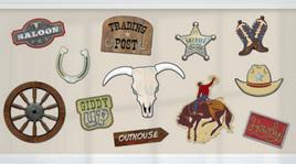 Value pack cowboy cutouts