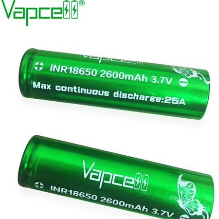 Vapcell Green  - 18650 -  INR - 2600mAh