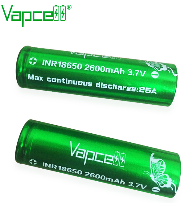 Vapcell Green 25A 2600mAh 18650 battery @ Naked Vapour