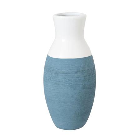 Vase Ceramic Aqua Dipped 12x12x25cm